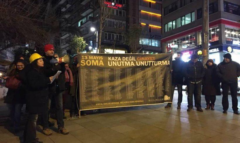SHD ve Soma Şehit Madenci Aileleri Soma Katliamının 33. Ayında Yine Sokağa Çıktı!