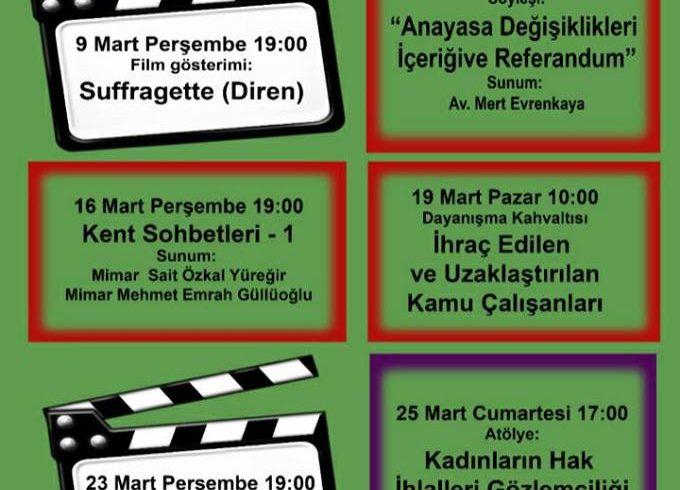 SHD Adana Temsilciliği Mart Ayı Boyunca Etkinlikler Düzenliyor
