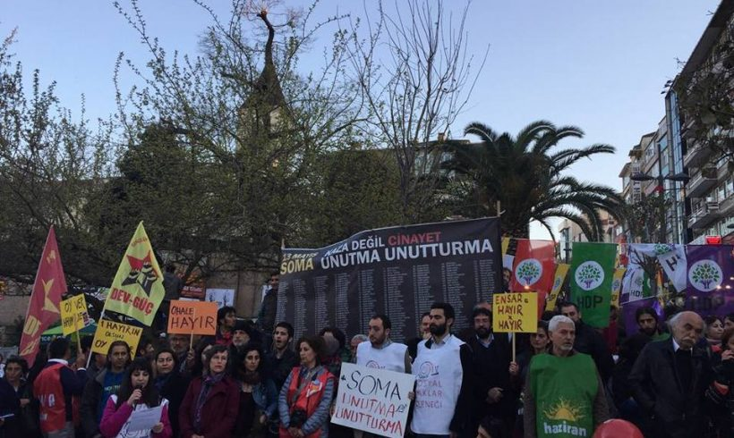 """SHD, Soma Katliamının 35. Ayında """"Sosyal Cinayet Düzenine Hayır"""" Çağrısıyla Sokağa Çıktı"""