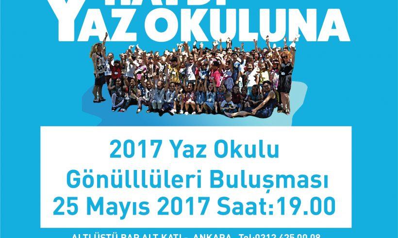 SHD Yaz Okulu Gönüllüleri ile 25 Mayıs'ta Ankara'da Buluşuyoruz!