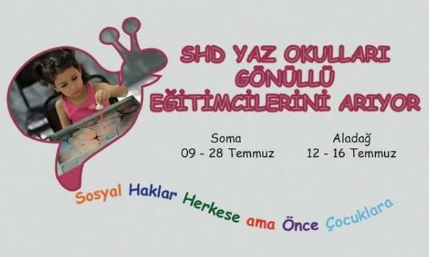 Soma ve Aladağ Yaz Okullarına Gönüllü/Destekçi Olmak İster misiniz?