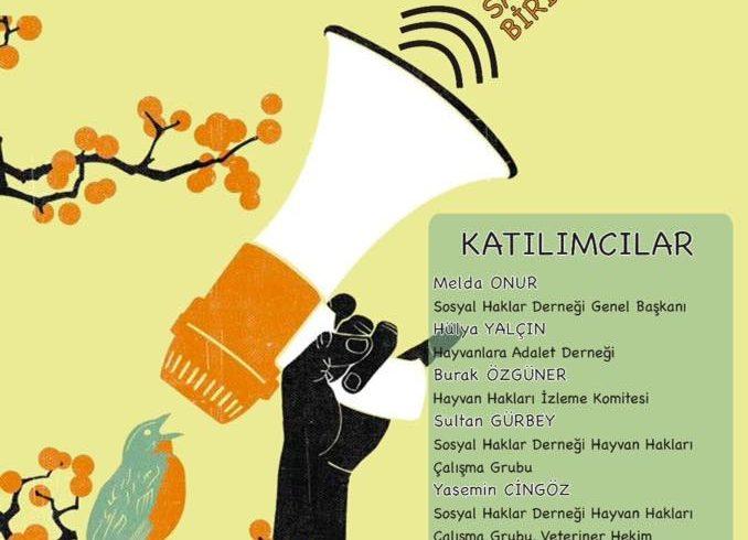 SHD Hayvan Hakları Paneli 1 Ekim'de Birikimhane'de!