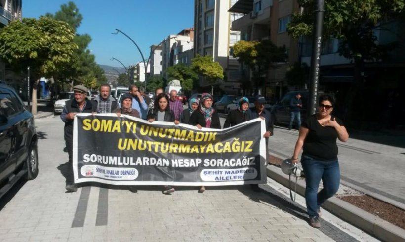 Soma Katliamının 41. Ayında da Sokağa Çıkan Aileler ve SHD 17 Ekim'deki Duruşmaya Çağrı Yaptı