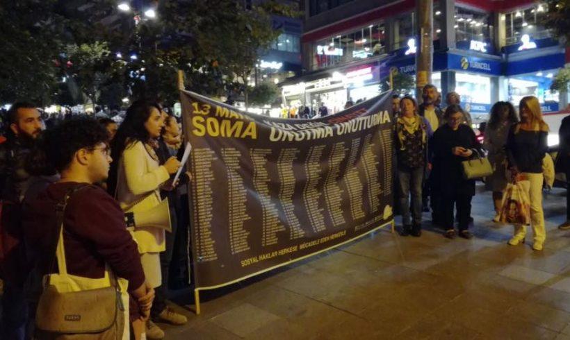 SHD'den Soma Katliamının 41. Ayında Kadıköy'de Eylem