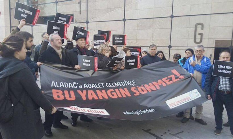 SHD Aladağ için Adalet Talebiyle Taksim'de Eylem Yaptı