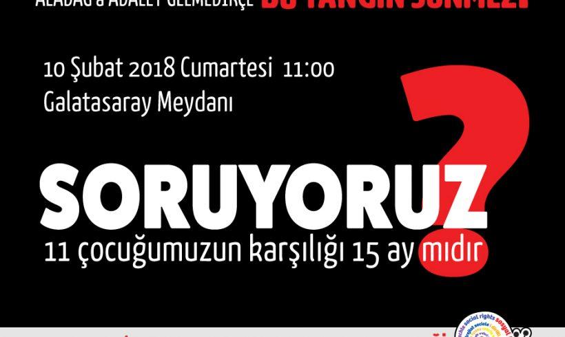 SHD'den Basın Açıklamasına Davet: 10 Şubat Cumartesi Aladağ için Sokaktayız!