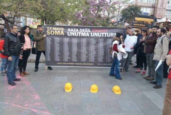 Katliamın 47. ayında 301 Madenciyi bir kez daha andık, Soma için Adalet istiyoruz…