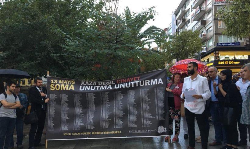 Soma'dan Aladağ'a tüm sosyal cinayetler için Adalet talebiyle yine sokaktaydık