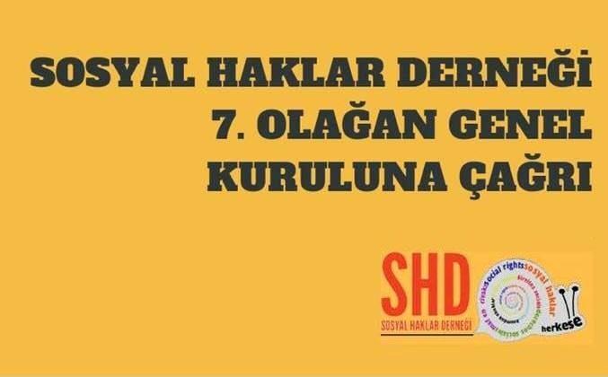 SHD Üyelerine Duyuru: 7. Olağan Kongremiz 14 Ekim'de